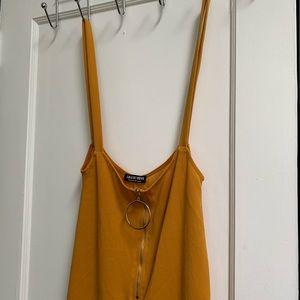 zip-up jumpsuit
